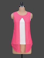 Sleeveless Colour Block Top - By