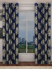 Home Candy Set Of 2 Royal Blue Door Curtains- 7 Feet - By