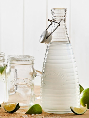 Transparent glass water bottle with ceramic lid - 1186545 - Standard Image - 1