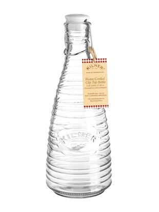 Transparent glass water bottle with ceramic lid - 1186545 - Standard Image - 4