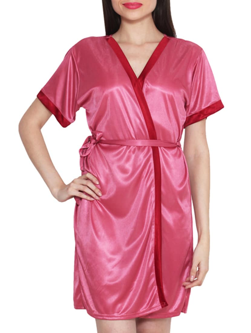 bc4207855 ... pink satin bras and panty set with a robe - 11869789 - Zoom Image - 4
