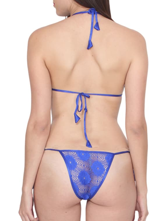 33fbca13c82dc Buy Blue Rayon Bra And Panty Set by Rock Hudson - Online shopping for Bras  And Panty Set in India