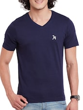 navy blue cotton tshirt -  online shopping for T-Shirts