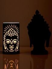 Brown Buddha Iron Table Lamp - By