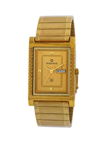 Maxima Gold Analog Watch For Men - 11904751 - Standard Image - 1