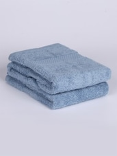 Blue Cotton Terry Hand Towel - Mark Home