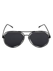 6by6 Black & White Aviator Unisex Sunglasses - By