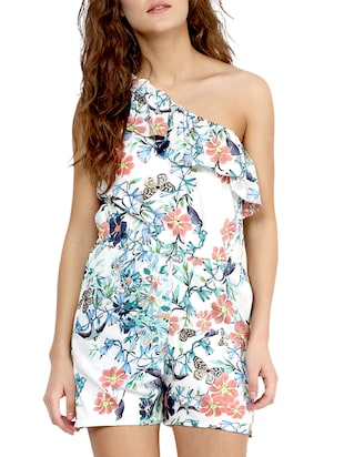 c03fafe8fdbc Buy White Floral Printed Crepe Jumpsuit for Women from Miss Chase for ₹1749  at 0% off
