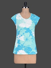 Floral Pattern Print Short Sleeve Top - Besiva