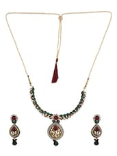 Multicolour Zinc Necklace And Earrings Set - By - 1192874