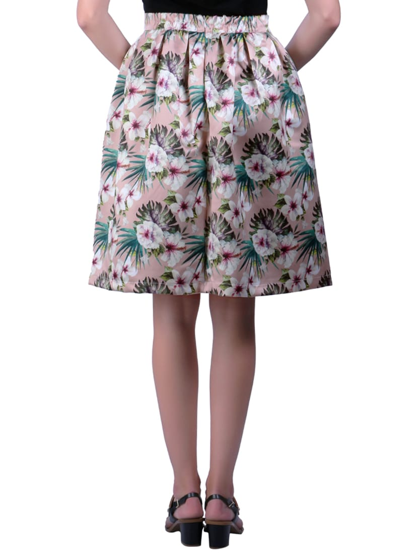 cccbe2cf2 Light Pink Printed Skater Skirt