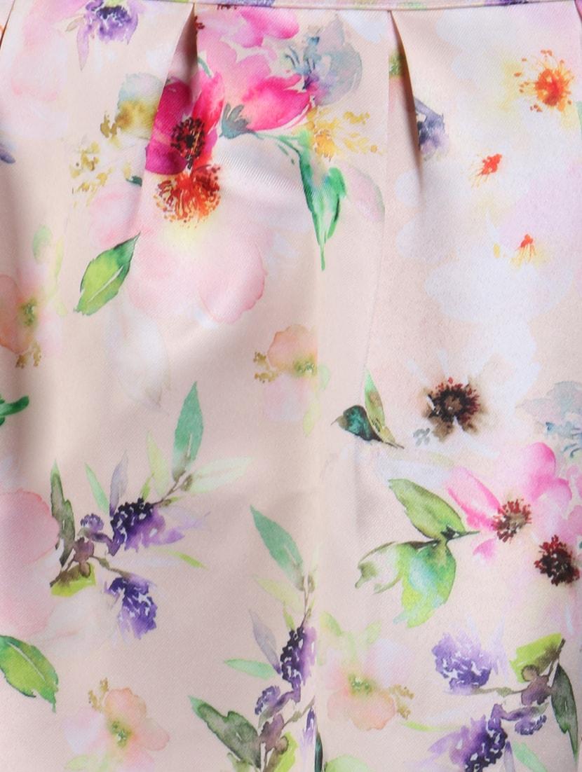 3d0e8c475 ... light pink floral printed polyester skater skirt - 11929654 - Zoom  Image - 4
