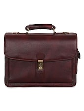 Brown Leather Laptop Bag - By - 1193816
