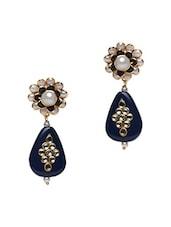 Multicoloured Semi-precious Stone Embellished Earrings - Roshni Creations