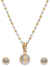 Embellished Mangalsutra With Silver Ball Earrings - Roshni Creations