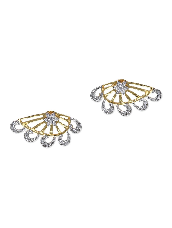 Embellishedfloral Front-back Earrings - By