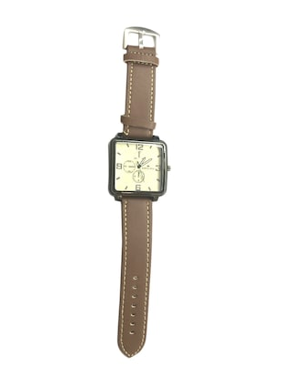 brown color, leather chronograph watch -  online shopping for Men Analog Watches