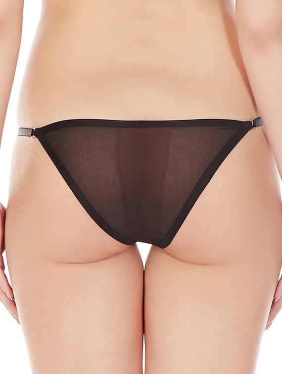 8c3f4ec28 Buy Black Nylon Thongs Panty for Women from Laintimo for ₹315 at 70% off