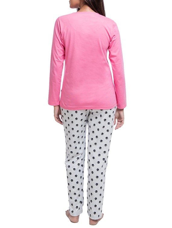 98e27e48c Buy Pink Printed Cotton Nightwear Pajama Set for Women from Nite Flite for  ₹999 at 0% off