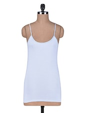 White Cotton Spandex Camisole - By