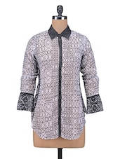 Black Printed Poly Georgette Casual Shirt - By