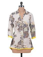 Multicolour Floral Printed  Rayon Top - By