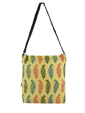 Multicolor Printed Canvas Sling Bag - By - 1198164
