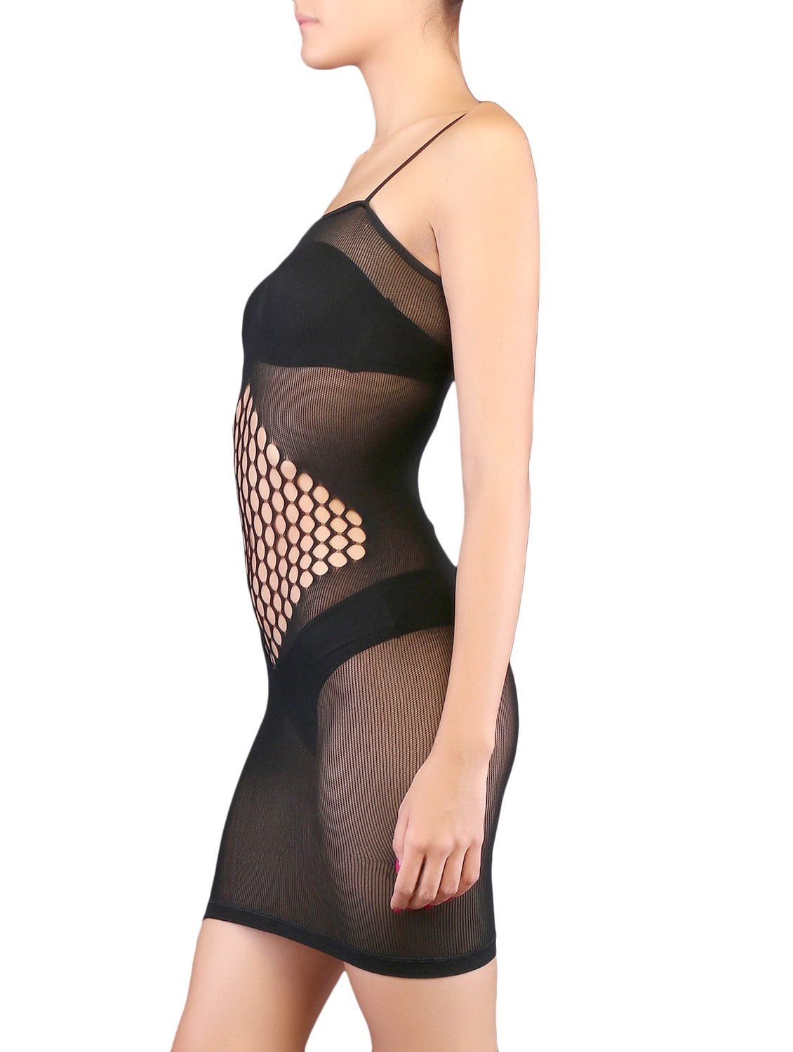 796d24a7d5b Buy Black Cut Work Synthetic Body Stocking for Women from Kaamastra for  ₹641 at 53% off