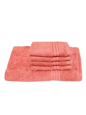 Coral Cotton Towel Set (Set Of 5) - By