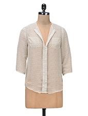 Beige Polygeorgette Printed Shirt - By