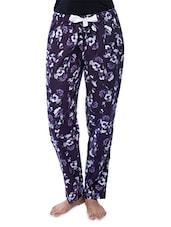 Black Rayon Printed Pajamas - Nite Flite