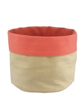 Pink Canvas Small Utility Bag - By