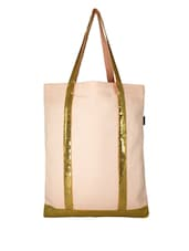 Pink Canvas Medium Shoulder Bag - By