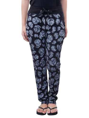 black cotton track pants - 12092709 - Standard Image - 1