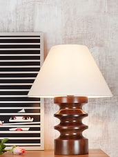 Brown And White Table Lamp - By