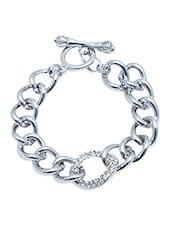 Silver Metallic Links Bracelet - By