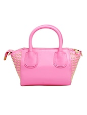 Pink Leatherette Hand Held Bag - By