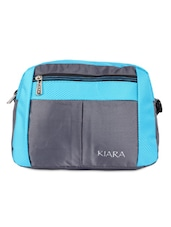 Blue And Grey Sling Bag - By