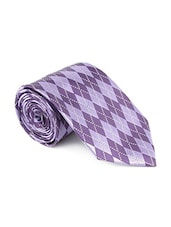 purple color, microfiber neck- tie -  online shopping for Ties