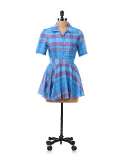 Blue Check Tunic Shirt - NUN