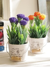 Set of 2 Artificial Plants with Vase -  online shopping for Indoor Plants
