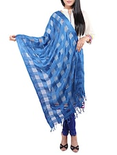 Blue Viscose Embroidered Dupatta - By