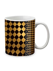 Brown Ceramic Pattern Mug - By