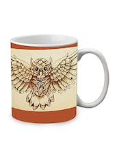 Brown Ceramic Owl Mug - By