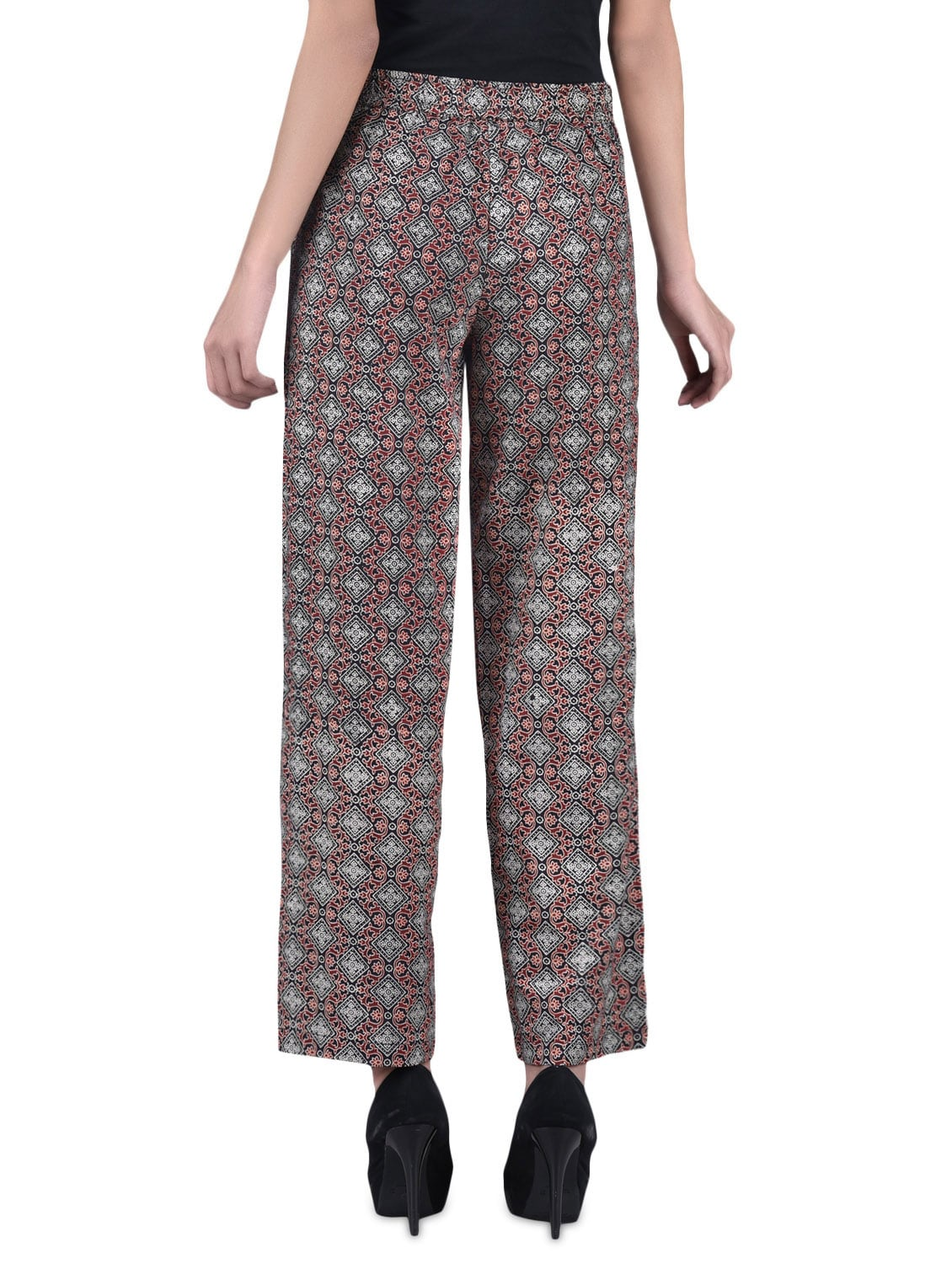 2c07aec4914 Buy Brown Printed Cotton Pants by Lyla - Online shopping for Trousers in  India
