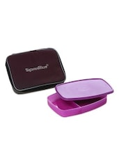 Purple Plastic Lunch Box (with Bag) - By
