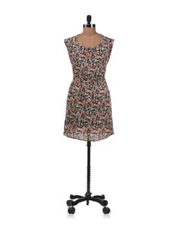 Multicolored Floal Print Dress - Allen Solly
