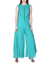 Turquoise Wide Leg Jumpsuit - By
