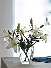 Glass Vase With Asymmetrical Rim - By