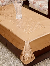 Azalea Aloft 4 Seater PVC Embossed Table Cover , Copper , Pack Of 1 - By